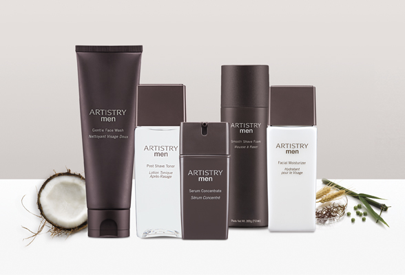 Artistry Men skincare products.