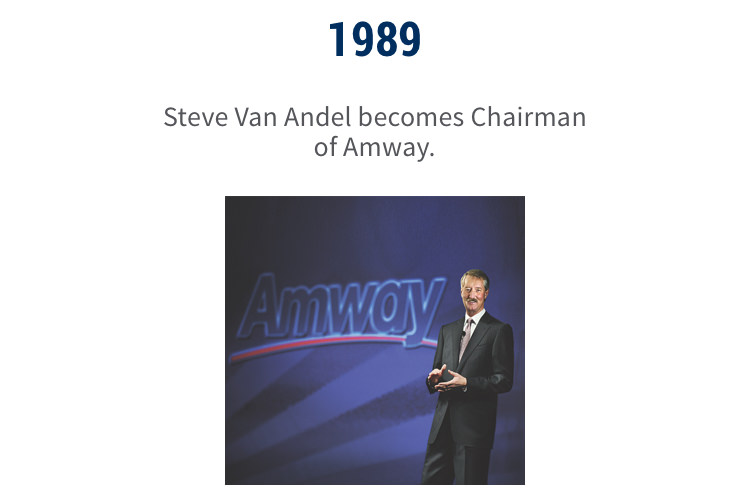 1995: Steve Van Andel becomes Chairman of Amway.