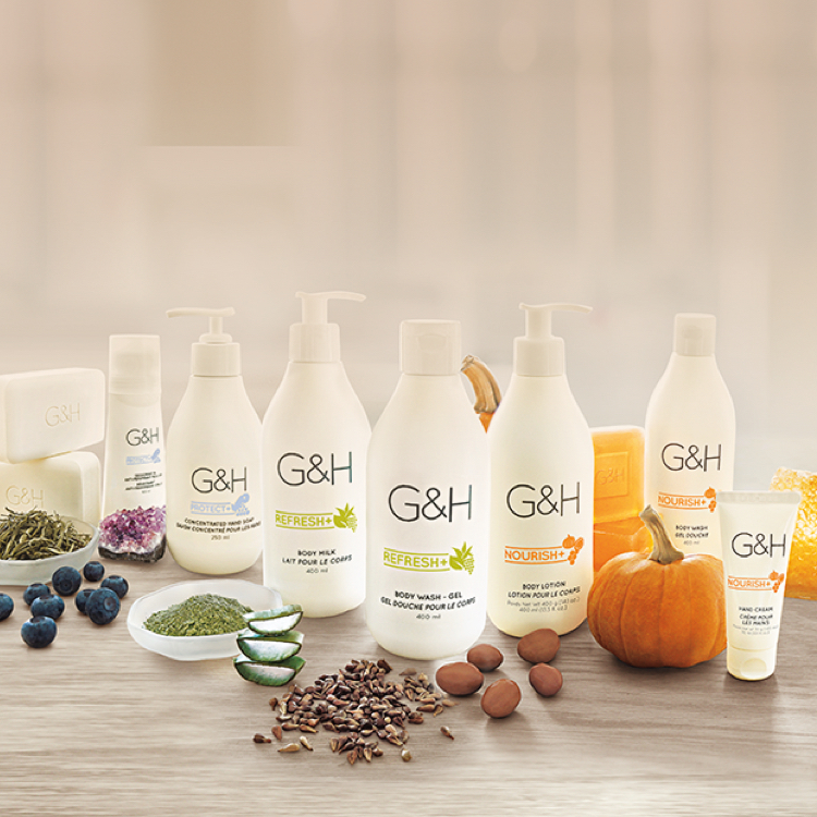 G&H products shown with naturally-inspired ingredients