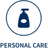 Personal Care icon, showing a pump bottle in a circle.