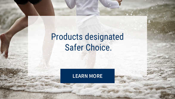 Products designated EPA Safer Choice: Learn more. Background image shows mother and child playing the waves at the ocean.